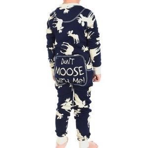 Lazy One don't moose with me PJ onesie size 4